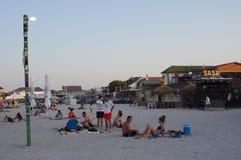 AbendFreizeit auf dem Strand Lizenzfreies Stockfoto