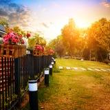 Abendgarten Lizenzfreies Stockfoto