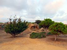 Abendhimmel über der Küste von Zypern Lizenzfreie Stockfotos