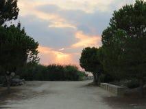Abendhimmel über der Küste von Zypern Stockfoto