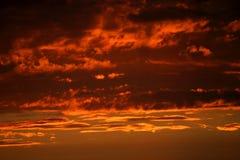 Abendhimmel Stockfoto