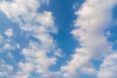 Abendhimmel mit Wolken Lizenzfreies Stockbild