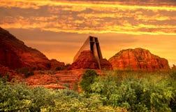 Abendhimmel in Sedona, Arizona lizenzfreies stockfoto