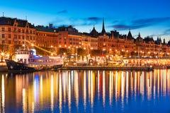 Abendlandschaft von Stockholm, Schweden Lizenzfreie Stockbilder