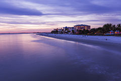Abendlicht auf dem Fischenpier im Fort Myers Beach Stockfoto