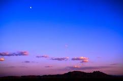 Abendrot von U S Weg 15 in Nevada Lizenzfreie Stockfotos