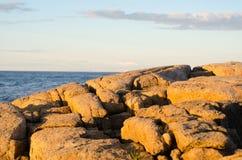 Sonnenuntergang-Felsen Stockfotografie