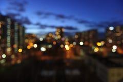 Abendstadtlichter Stockfoto