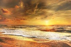 Abendstimmung, Afterglow, Beach Stock Photos