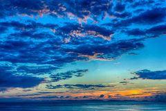 Abendstrand von Okinawa stockbild