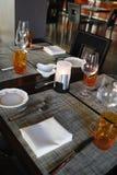 Abendtisch Stockfotos