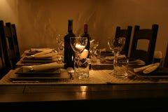 Abendtisch Lizenzfreie Stockfotos
