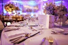 Abendtisch in einer formalen Partei Lizenzfreies Stockbild