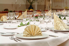 Abendtischeinstellung Stockfoto