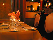 Abendtischeinstellung Lizenzfreies Stockfoto