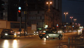 Abendverkehr Stockfoto