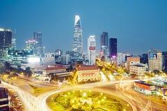 Abendverkehr in Ho Chi Minh City lizenzfreie stockfotos