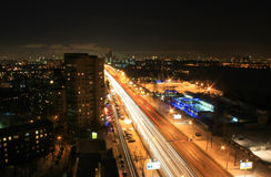 Abendverkehr von der Dachspitze Lizenzfreies Stockfoto