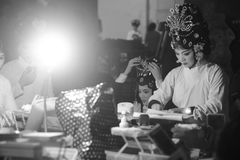 Abendvorstellungs-Peking-Opernschauspielerinmake-up Stockbild