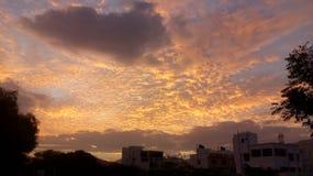 Abendwolken lizenzfreie stockbilder