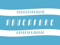 Abenteuer Cursiveguß Vektor lizenzfreie stockbilder
