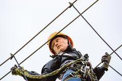 Abenteuer der großen Höhe Stockfotos