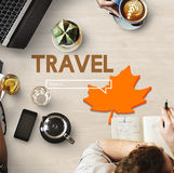 Abenteuer-Erforschungs-Reise-Lebensstil-Wanderlust-Konzept lizenzfreies stockfoto