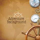 Abenteuer-Karten-Hintergrund stock abbildung