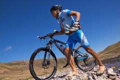 Abenteuer-Mountainbikewettbewerb Lizenzfreies Stockfoto