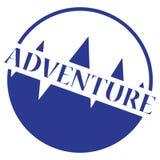 Abenteuer-Stempel-Logo Stockfotos