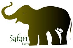 Abenteuer wilde Safari Vector Logo stock abbildung