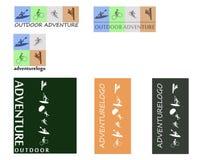 Abenteuerlogo im Freien Lizenzfreie Stockbilder