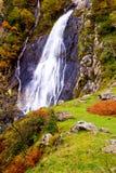aber英国威尔士瀑布 免版税图库摄影