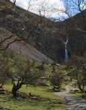 Aber понижается водопад и горные склоны Стоковые Фотографии RF
