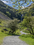 Aber falls - path  walking up Royalty Free Stock Photography