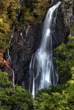Aber Falls. Waterfall flowing in Wales Stock Image