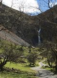 Aber Falls Waterfall and hillsides Royalty Free Stock Image