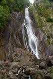 Aber nedgångar, Rhaeadr Fawr, Conwy, norr Wales Arkivbild