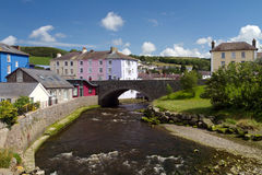 Aberaeron bridge Royalty Free Stock Images
