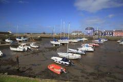 Aberaeron-Hafen lizenzfreie stockbilder