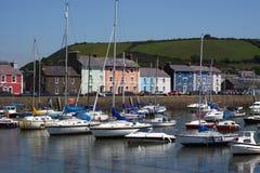 Aberaeron harbour royalty free stock image