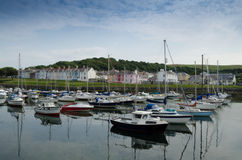 Aberaeron Harbour. Boats in Aberaeron Harbour wEst Wales Stock Image