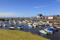 Aberaeron harbour Stock Photo