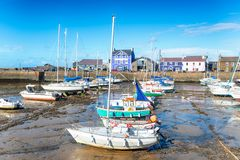 Aberaeron in Wales. The harbour at Aberaeron, a small seaside town between Aberystwyth and Cardigan on the coast of Wales stock images