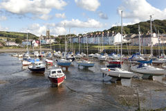 Aberaeron - Welsh harbour Royalty Free Stock Photos