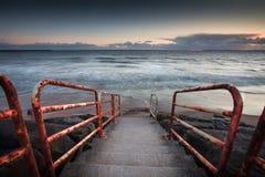 Aberavon beach handrail Stock Image