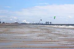 Aberavon strand, Wales Royaltyfria Foton