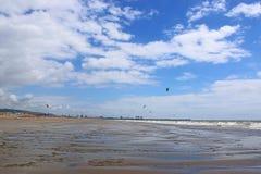 Aberavon strand, Wales Arkivfoto