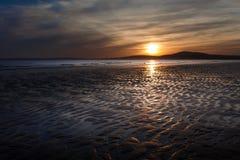 Aberavon strandsolnedgång Arkivfoto