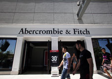 ABERCROMBIE AND FITCH CLOTHING stock image
